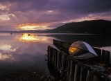 boat, boats, sunset, loch, rannoch, perthshire, scotland