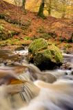 autumn, trees, burn, falls, waterfalls, fall color, impressive, stream, walk, gorge, wooded, cascades