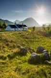 black rock, cottage, glencoe, argyll, buachaille etive mor, spring