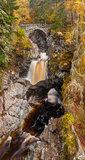 falls, bruar, waterfalls, autumn, peat, natural arch, rock, pools, perthshire, blair atholl