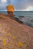 deil's heid, arbroath, scottish coastal walks, cliffs, stack, rock, formations, coast, rainbow, angus, scotland, sandsto