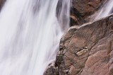 river, etive, falls, rocks pink colour, pink, water flows, force