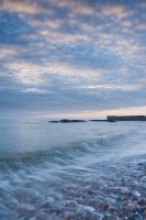 dawn, steely, auchmithie, angus, scotland, harbour, harbour wall, mother nature, cold light