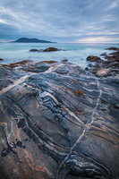 lewisian, gneiss, rock, banded,Ceapabhal, traigh lar, peninsula, harris, hebrides