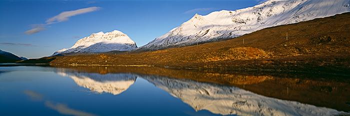 panoramic landscape photographs, liathach, beinn eighe, torridon, mountain, snow, scottish highlands, reflection, ross, photo