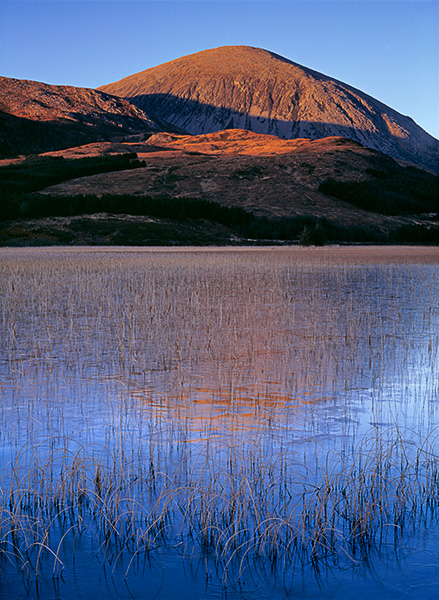 beautiful landscape, cuillin, mountain, warm, cool, image, skye, scotland, frozen, loch, torrin, photo