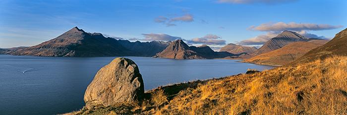 cuillin, mountain, autumn, peaks, Blabheinn, erratic. skye, scotland, autumnal, photo