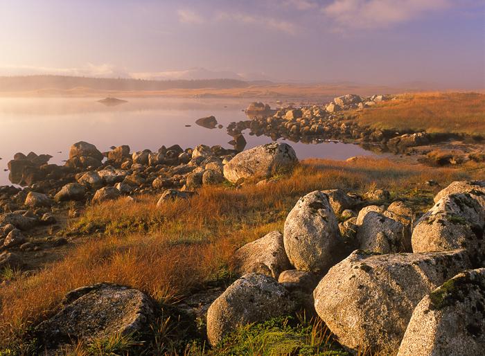 mist, autumn, loch, misty, rannoch, perthshire, scotland, mountains, photo