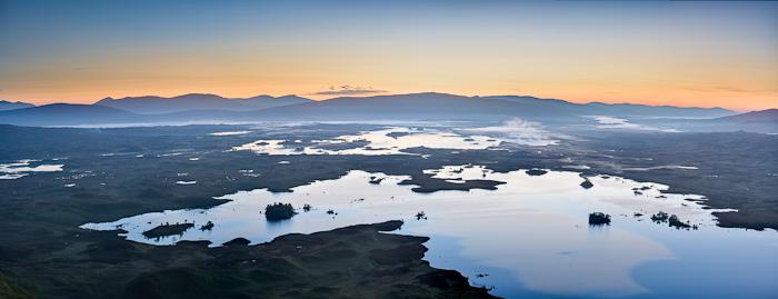 rannoch moor, rannoch, perhtshire, scotland, boggy, moorland, lochs, peat, colours, dawn, summer, photo