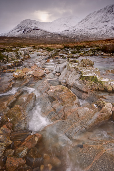 river, etive, argyll, scotland, winters, glen, glen etive, cloud, rocks, image, landscape, photo