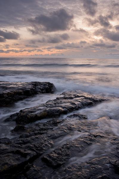 northumberland, england, coastal region, coastal, coast, rocky, beaches, north sea, dawn, waves, foreshore, photo