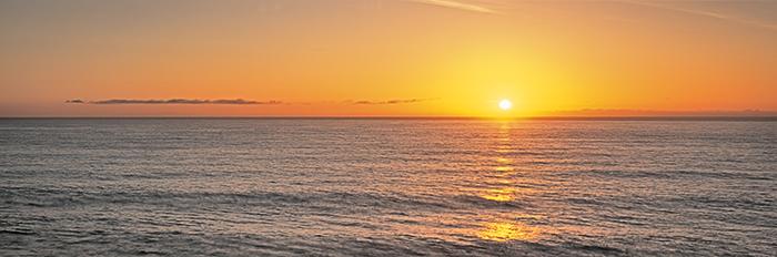 sunrise, water, swell, gentle, north sea, arbroath, scotland, tranquil, panorama, photo