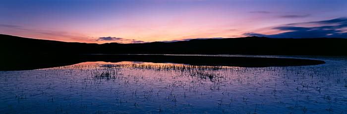 sunset, loch, frozen, sleat, skye, scotland, photo